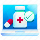 online, pharmacy, healthcare, medical, web, page icon