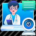 webcam, video, call, communications, online, camera