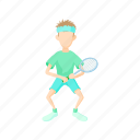 cartoon, leisure, lifestyle, male, person, sport, tennis