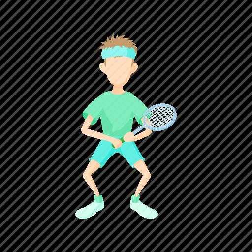 cartoon, leisure, lifestyle, male, person, sport, tennis icon