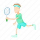 cartoon, leisure, lifestyle, male, person, sport, tennis icon