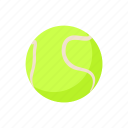 ball, cartoon, equipment, game, sport, tennis icon