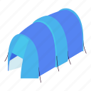 blue, camp, hiking, isometric, object, outdoor, tent