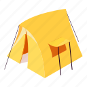 camp, hiking, isometric, little, object, outdoor, tent