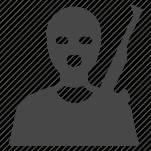 bandit, crime, criminal, robber, robbery, terrorist, thief icon