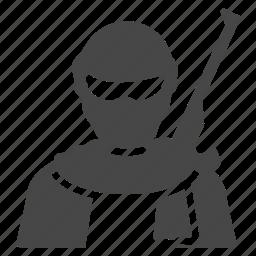 bandit, criminal, robber, robbery, terrorist, thief, thug icon