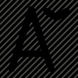 alphabet, creative, decrease, file, font, grid, language, letter, shape, size, text, type, word icon