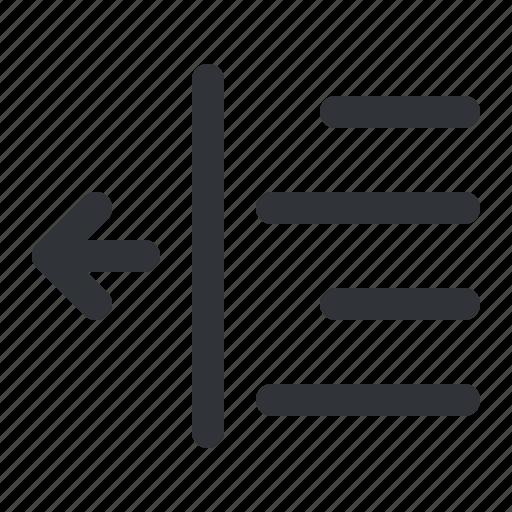 align, decrease, format, left, margin, text icon