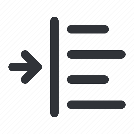 align, format, increase, left, margin, text icon