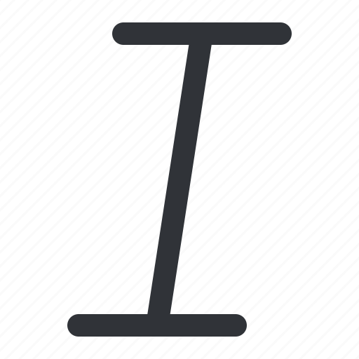 format, italic, text, typography icon