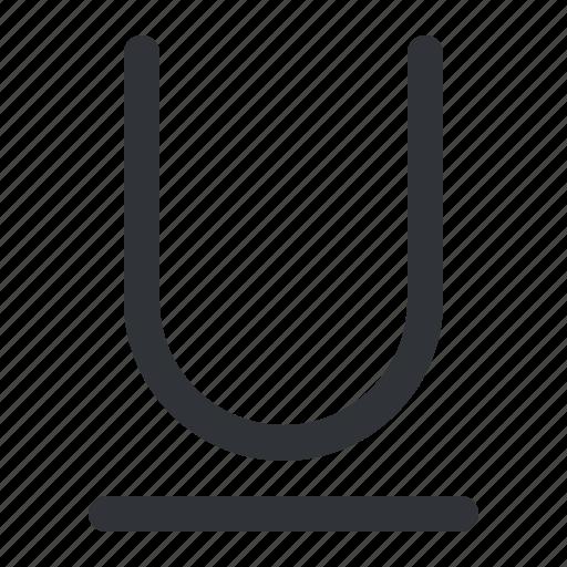 format, text, typography, underline icon