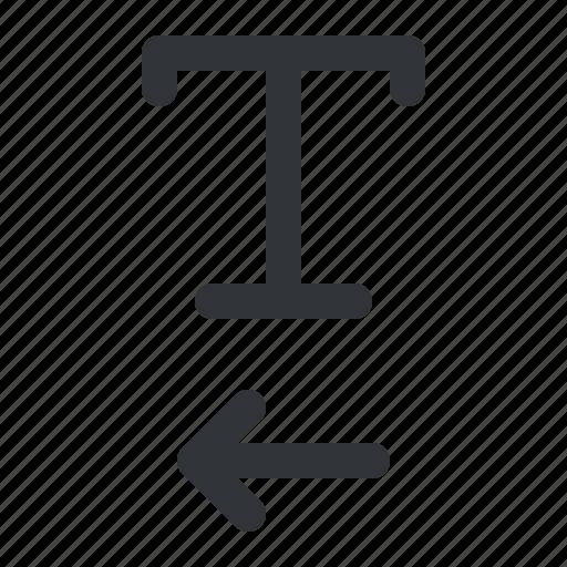 format, left, text, typography icon