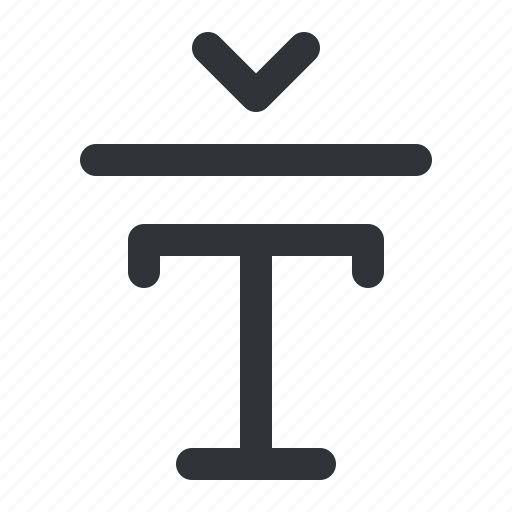 format, text, typography icon