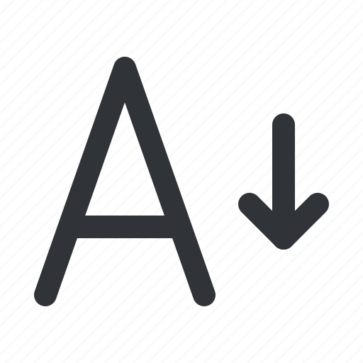 format, size, smaller, text, typography icon