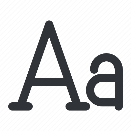 case, format, lower, text, typography icon