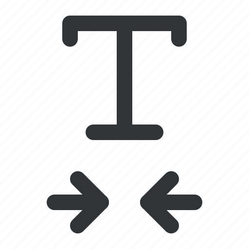 format, horizontal, scale, text, typography icon