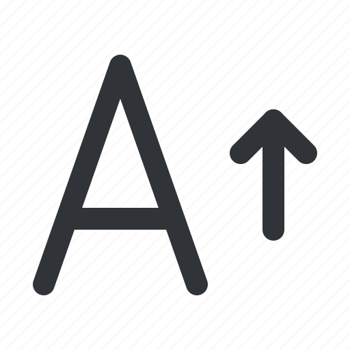 format, larger, size, text, typography icon