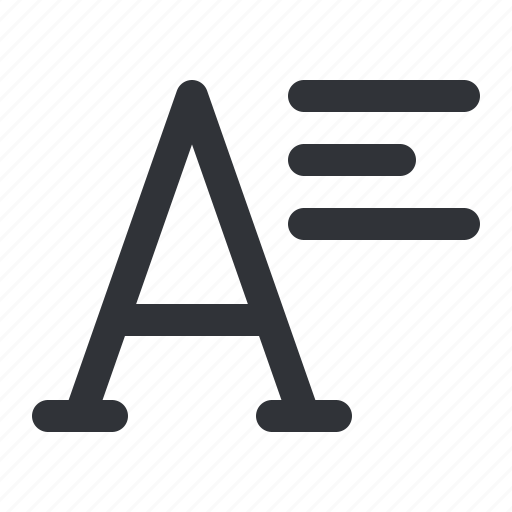 align, font, text, typography icon