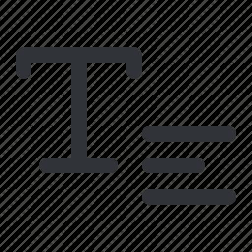 align, text, type, typography icon