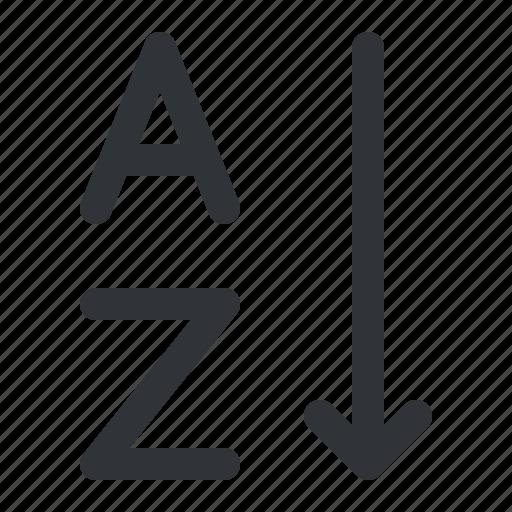 descending, format, order, text icon