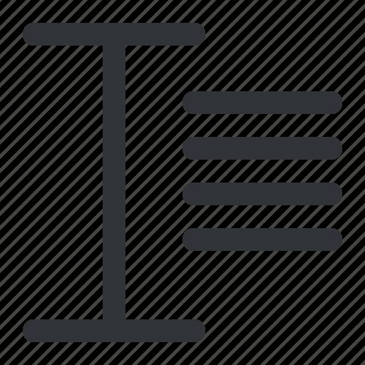 align, italic, text, typography icon