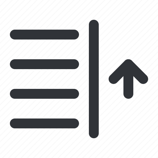 align, format, right, text, up icon