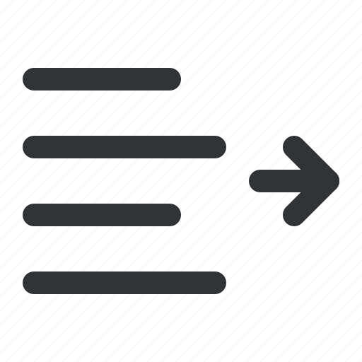 decrease, format, indent, right, text icon