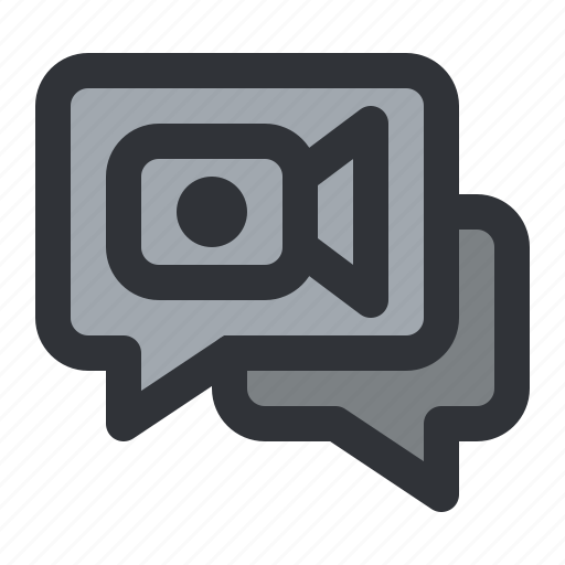 chat, communication, conversation, message, record, video icon