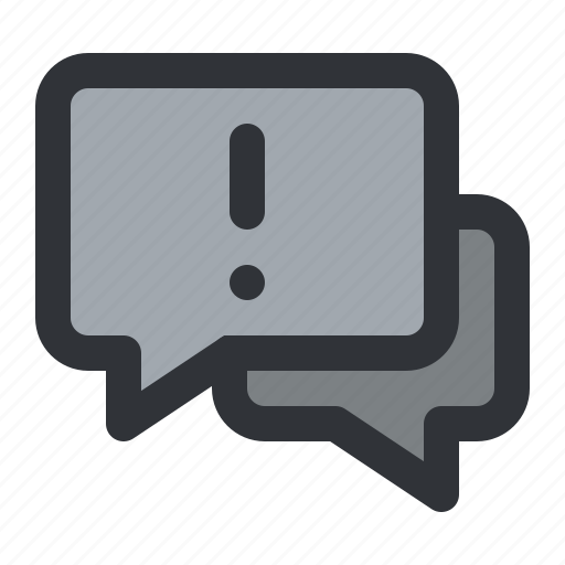 alert, chat, communication, conversation, message, warning icon