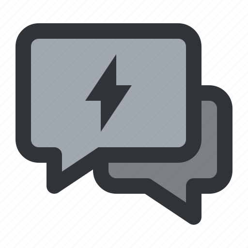 chat, communication, conversation, electric, message icon
