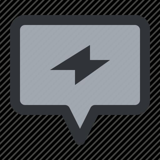 bubble, chat, communication, conversation, electric, message icon