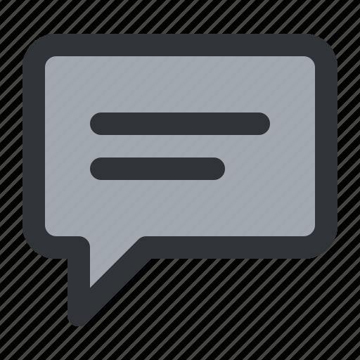 bubble, chat, communication, conversation, message, text icon
