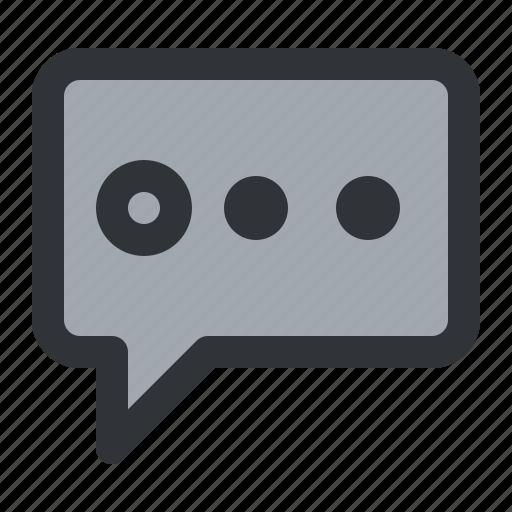 bubble, chat, communication, conversation, dots, message icon