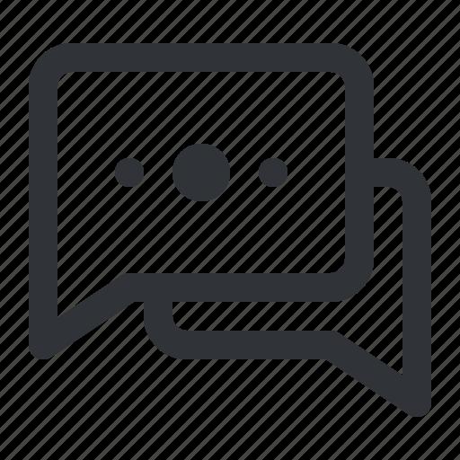 chat, communication, conversation, dots, message icon