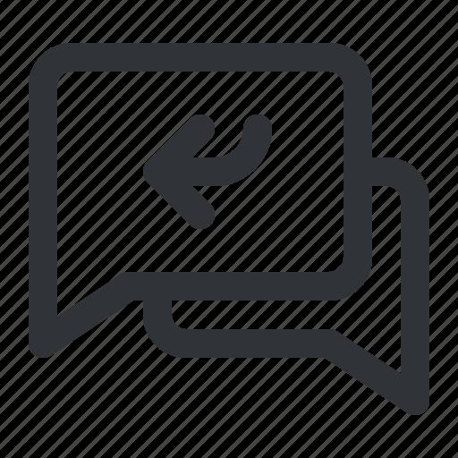 arrow, chat, communication, conversation, message icon