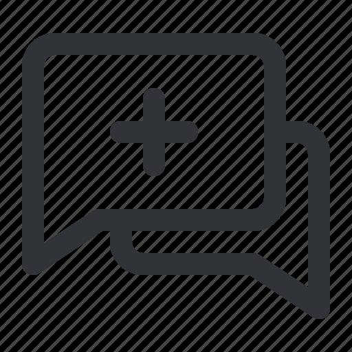 add, chat, communication, conversation, message, plus icon