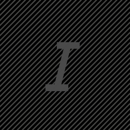 cursor, italic, letter, shape, wysiwyg icon