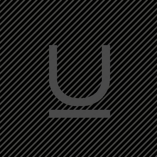 format, letter, magnet, underline, wysiwyg icon