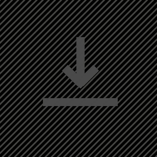align, arrow, bottom, down, vertical align, wysiwyg icon
