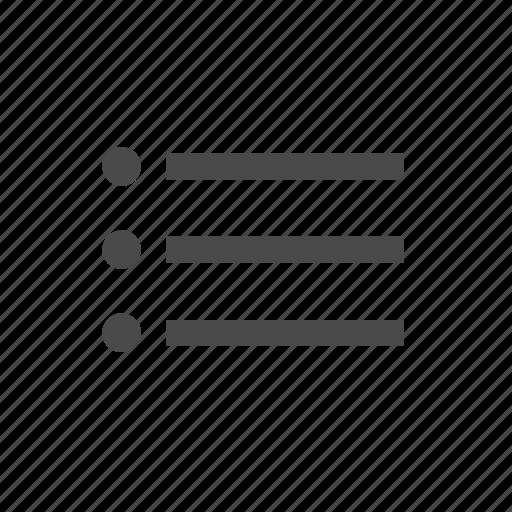 bulleted list, check, list, mark, menu, text, wysiwyg icon