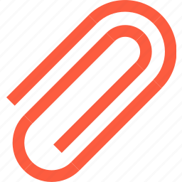 attach, attachment, clip, office, paper, paperclip, stationery, tool icon