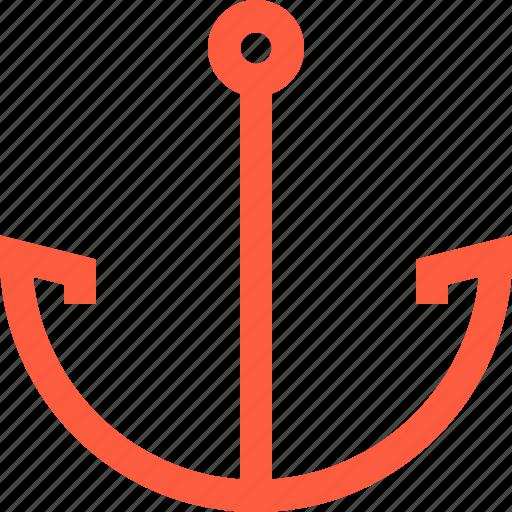 anchor, function, marine, nautical, sea, text icon