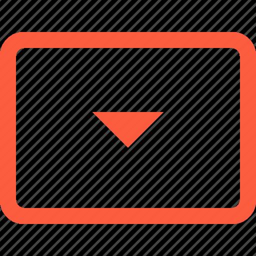 arrow, button, down, key, keyboard, typing icon