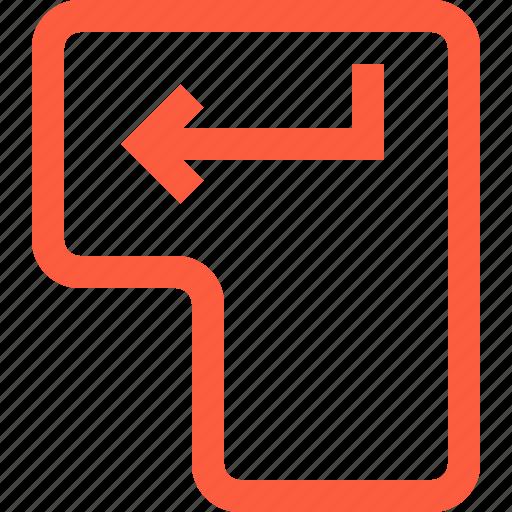 arrow, button, enter, key, keyboard, return, start icon