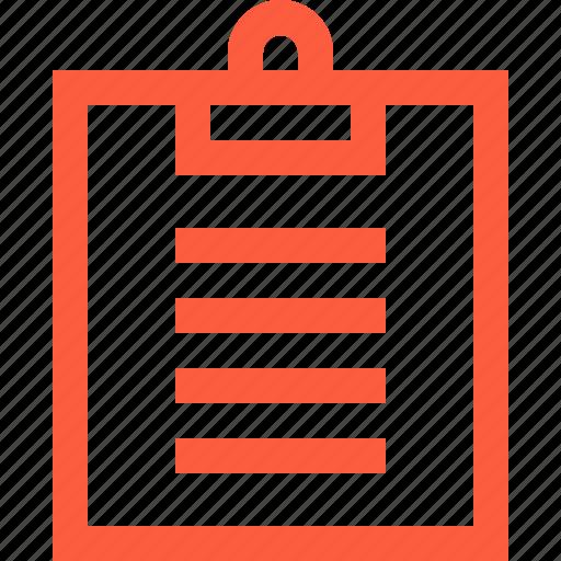 board, clip, clipboard, document, office, paper icon