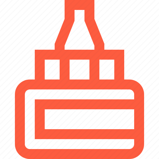 bottle, equipment, glue, ink, stationery, tool icon
