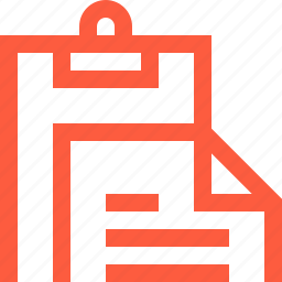 clipboard, doc, document, office, paper, paperwork, stationery icon