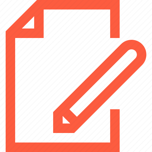 change, document, edit, editing, new, paper, pen, text, write icon