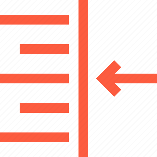 alignment, alining, editing, indent, lining, right, text icon