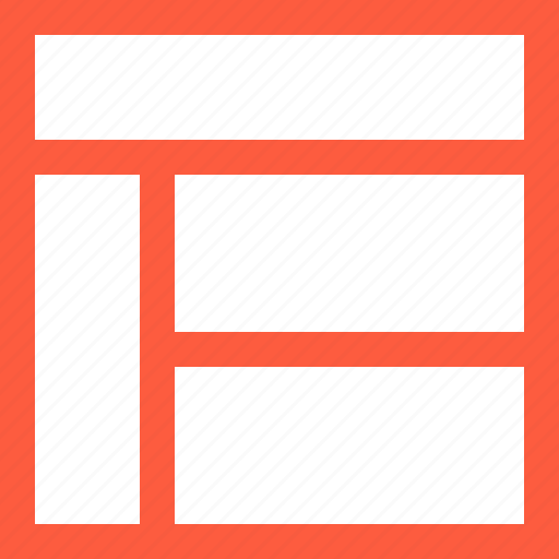 divided, editing, format, layout, page, right, text, titles, top, view icon